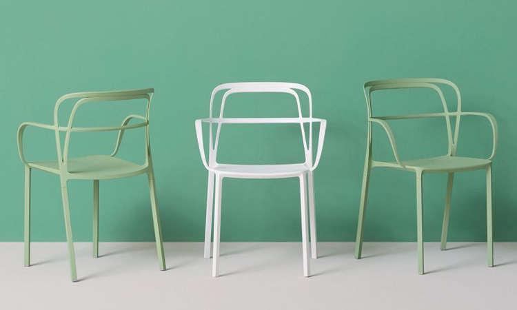 Sedia bar in alluminio modello intrigo design di grande for Sedie in alluminio