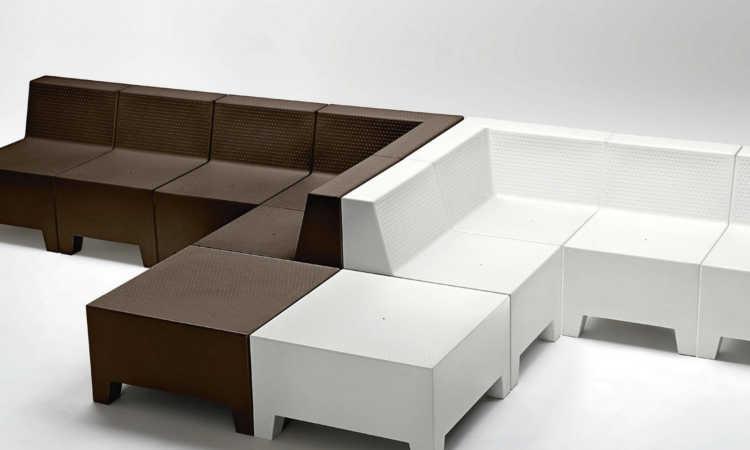 Panca modulare da esterno modello playa dsedute - Divanetto in legno per esterno ...