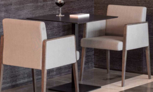 Poltrona imbottita Jil per arredare bar e ristoranti