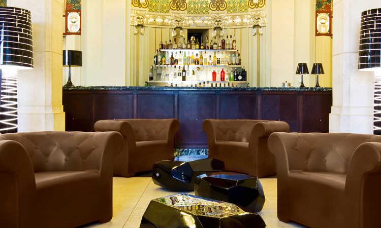 Poltrona imbottita bar modello Sirchester Armchair