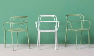 Sedia bar in alluminio intrigo per ambienti esterni
