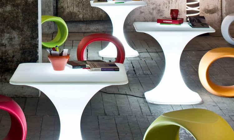 Tavolo bar luminoso modello Milo
