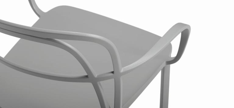 Sedia bar in alluminio intrigo