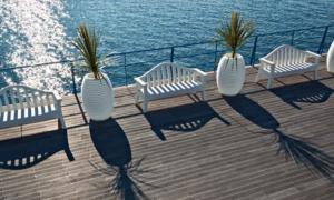 Panca da giardino per ristoranti, hotel e agriturismi serie Giulietta