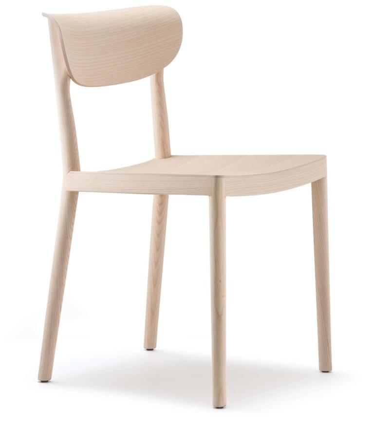 Sedia indoor in frassino serie Tivoli