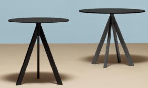 Tavolo bar moderno in tubolari d'acciaio Arki -Base