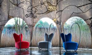 Poltrona imbottita in tessuto Sexy chair