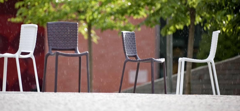 Sedia da esterno Tatami per l'arredamento bar