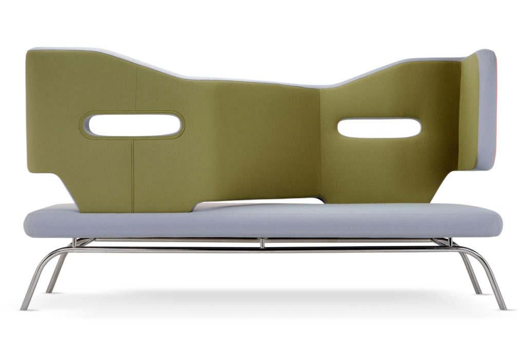Divano con schienale alto modello Trafic Vis à Vis