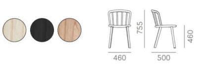Colori e dimensioni sedia NYM