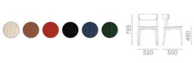 Colori e dimensioni sedia Nemea