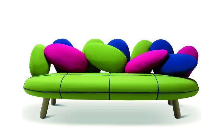 Divano modello Jelly per interni colore verde