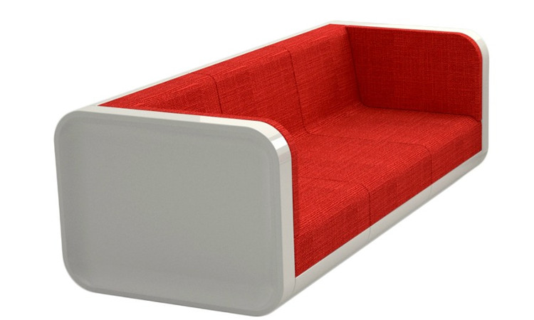 Divano modulare 2054 colore rosso