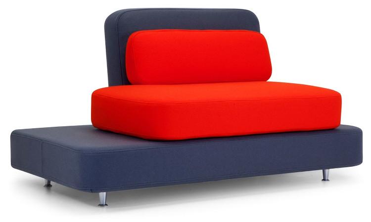Quid divano imbottito colore rosso