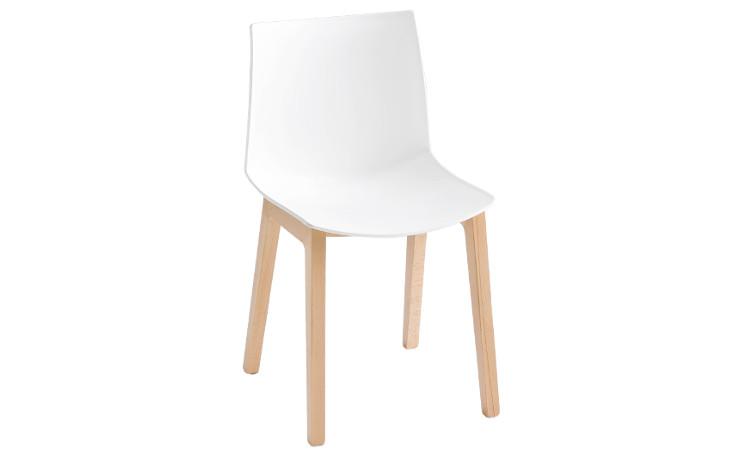 Sedia in plastica Kanvas colore bianco