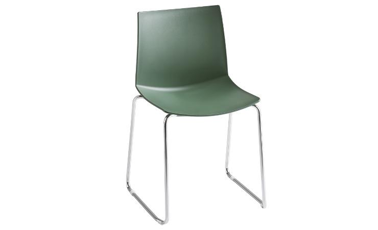 Sedia in plastica Kanvas colore verde