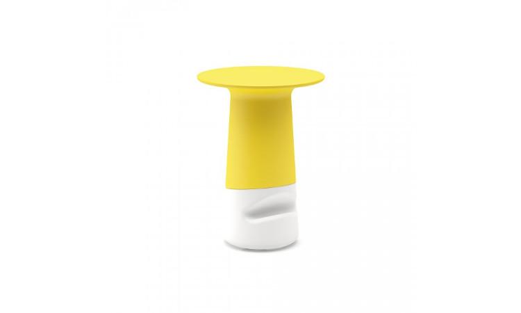 Tavolo luminoso colore giallo bianco