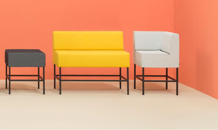 angolo frontale pouff seduta modulare host vari colori