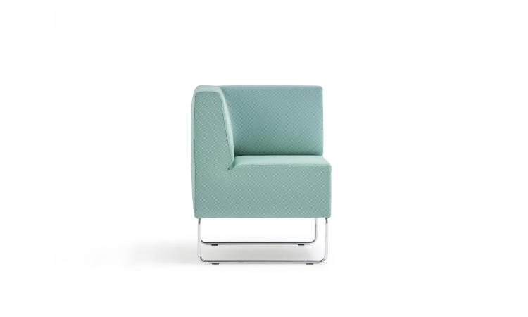 angolo seduta modulare host in tessuto azzurro