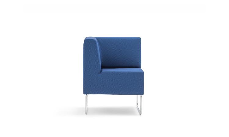 angolo seduta modulare host in tessuto blu