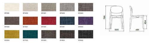 dimensioni e colori sedia Sedia Harmo