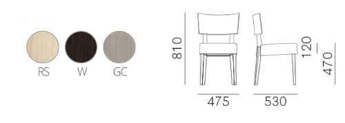 Dimensioni e colori sedia Elle