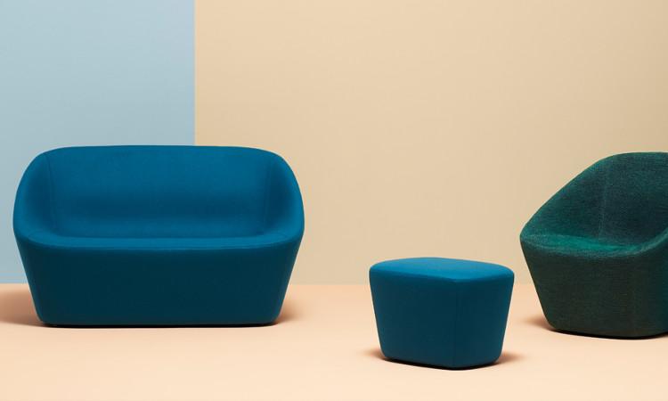 divano log colore blu