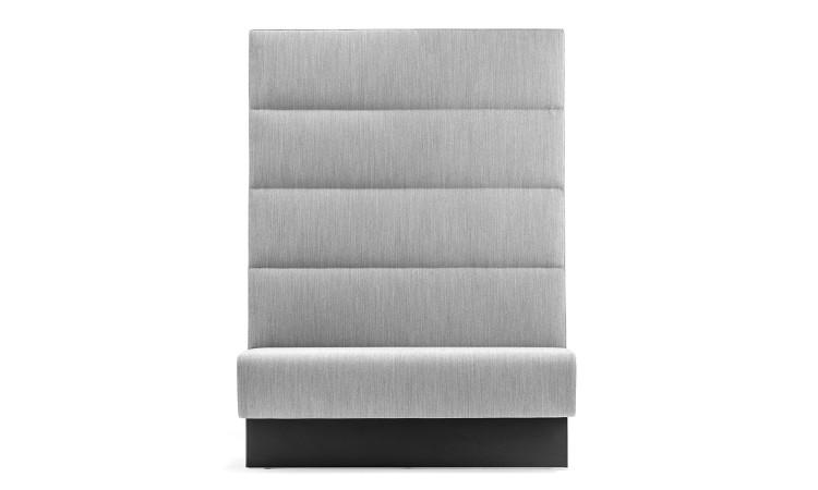 frontale colore grigio con schienale alto panca modus