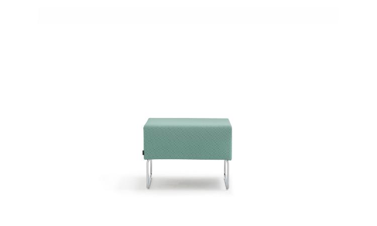 pouff seduta modulare host in tessuto azzurro