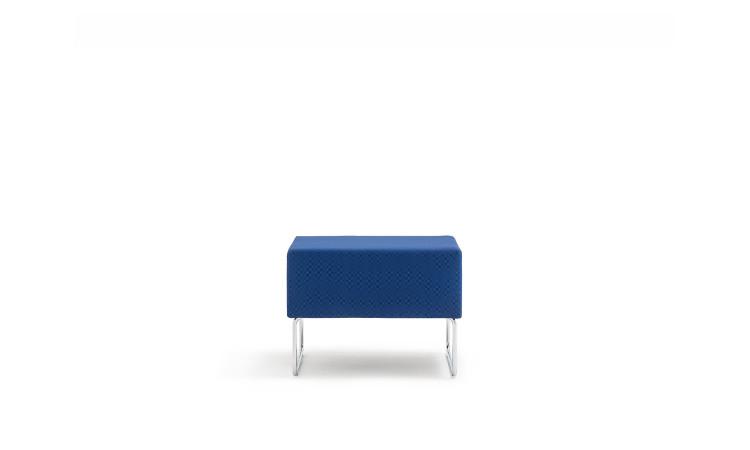 pouff seduta modulare host in tessuto blu