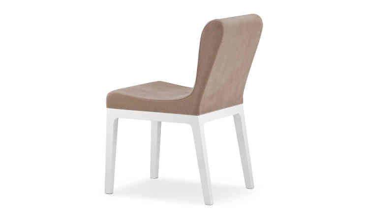Sedia imbottita in legno massello modello Gilda