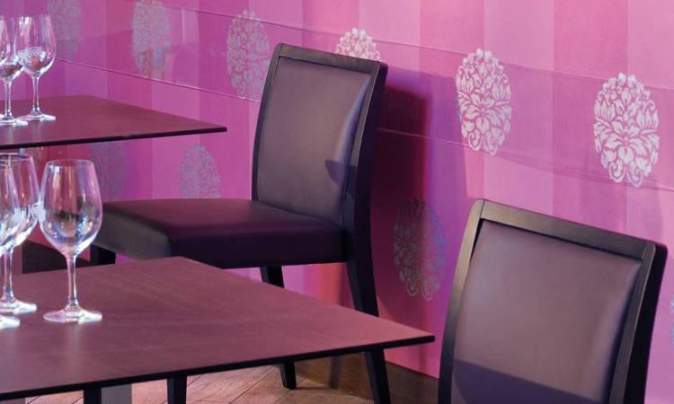 Sedia ristorante Glam in tamburato imbottita