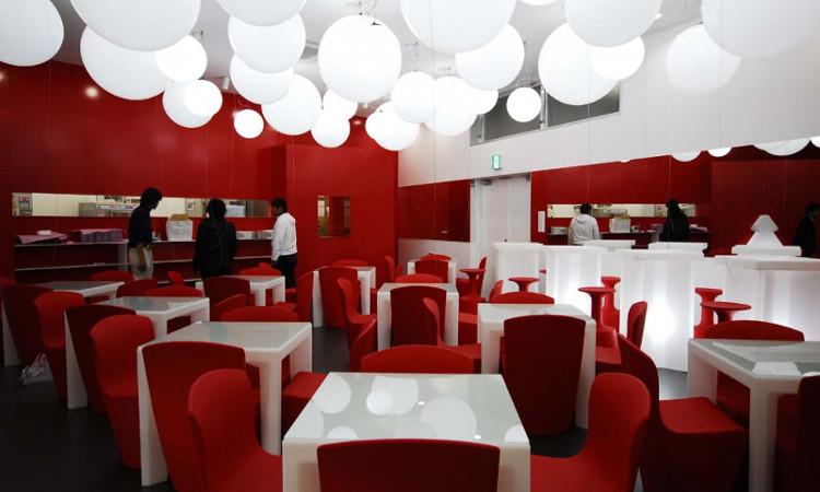 sedia moderna zoe da esterno colore rosso