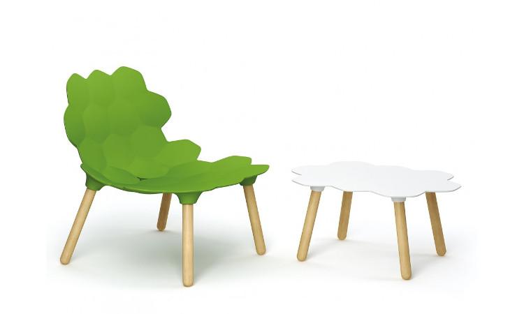 sedia tartara con tavolino