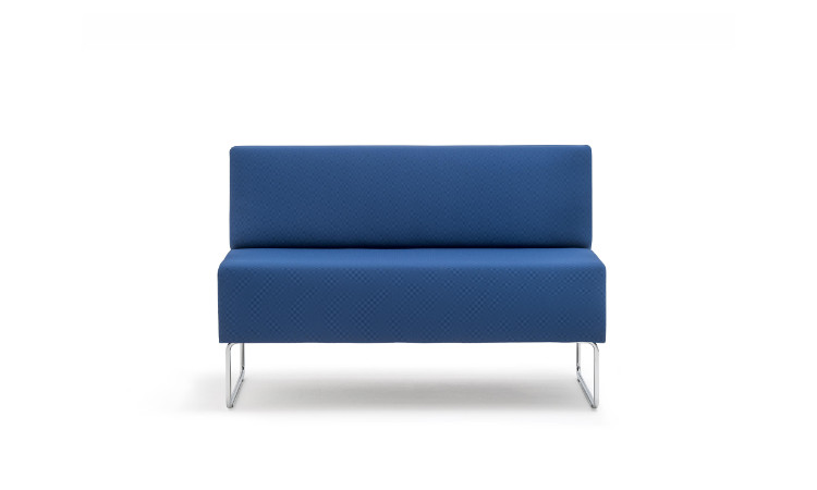 seduta modulare host in pelle blu