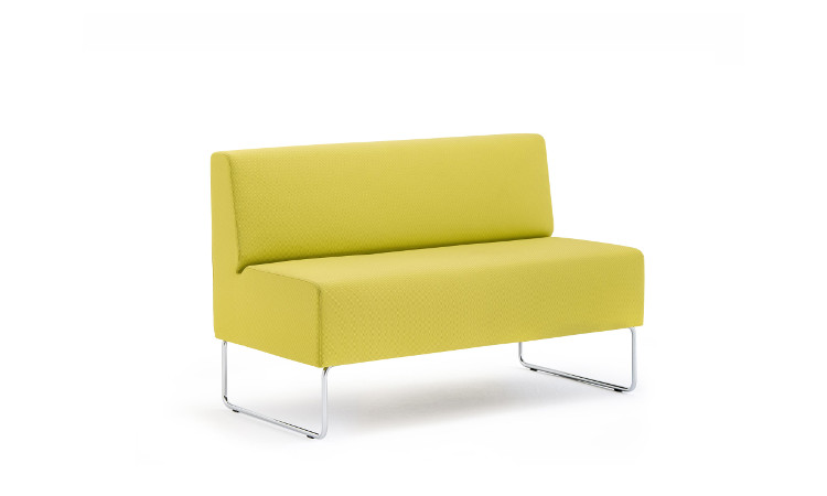 seduta modulare host in pelle gialla