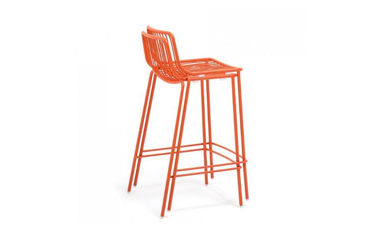 sgabello nolita da esterno in acciaio colore arancione