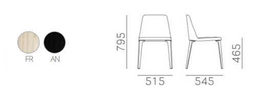 Colori e dimensioni sedia Laja