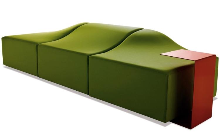 Panca modulare moderna modello Onda