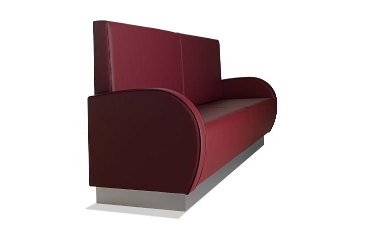 Panca modulare imbottita per interni modello Greta