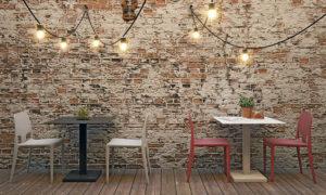 Tavolo bar con piano tondo o quadro, modello Ipe