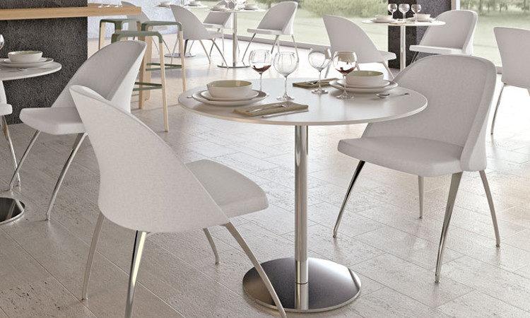 Tavolo bar, ristorante a gamba singola, modello Round