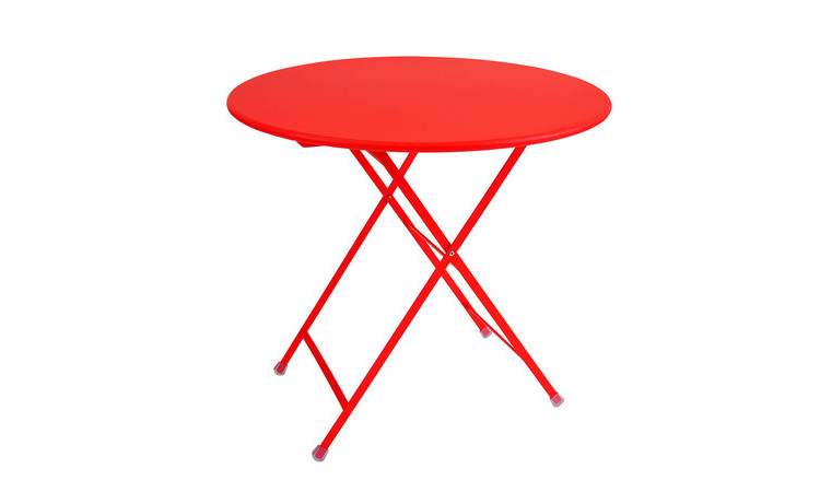 Tavolo pieghevole in metallo modello arc en ciel dsedute - Larghezza tavolo ...