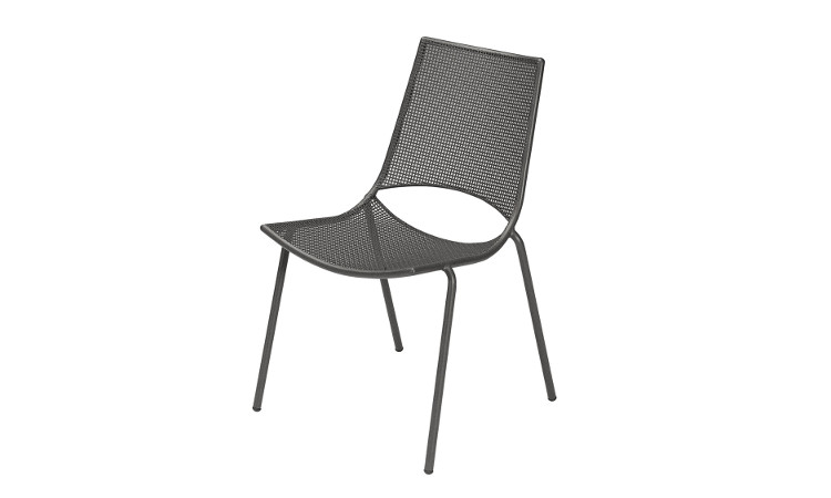 Sedia in acciaio impilabile da esterno modello Ala