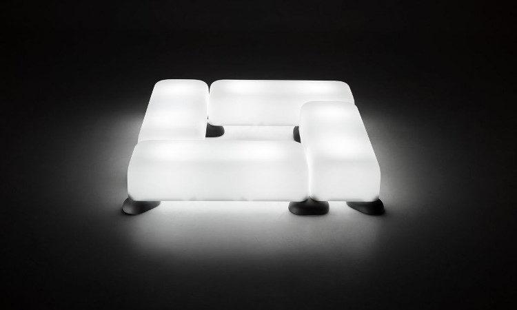 Panca modulare da esterno modello Momo
