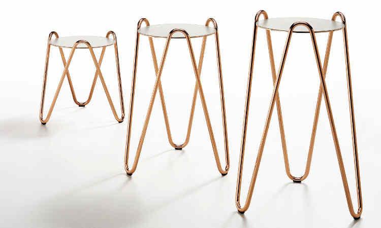 Coffee table con piano rotondo modello Apelle Chic