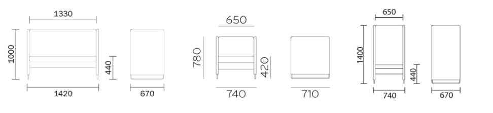 Dimensioni divano Zippo