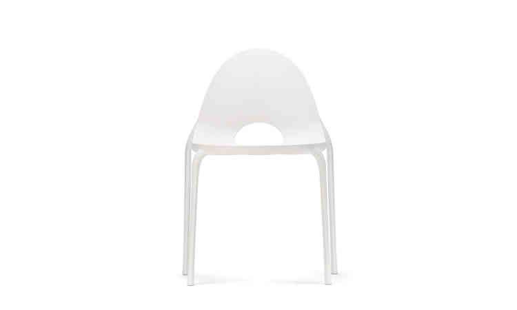Sedia bar impilabile da esterno modello Drop