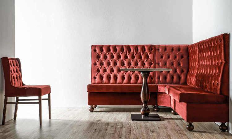 Seduta modulare per ristoranti e pub modello Dressy