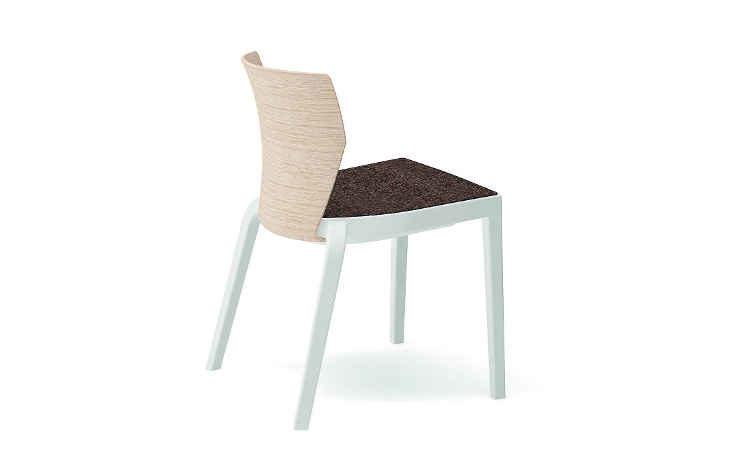 Sedia dal design moderno per l'indoor e l'outdoor, modello BI